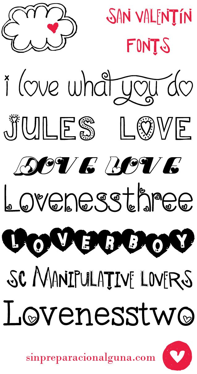 Free San Valentine Fonts