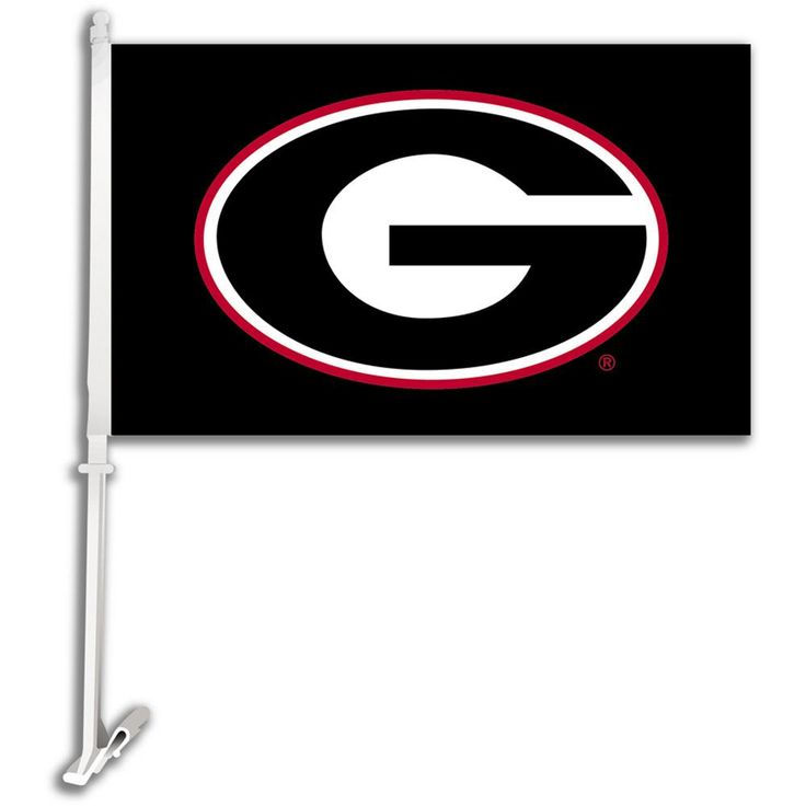 Georgia Bulldogs Black G Car Flag