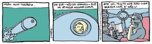 """deposito-de-tirinhas:  """" por Laerte Coutinho http://manualdominotauro.blogspot.com.br/(via Revista Ellenismos)  """""""