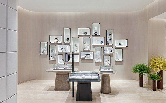 Jewelry salon at Lane Crawford (IFC Mall in Hong Kong) by Yabu Pushelberg