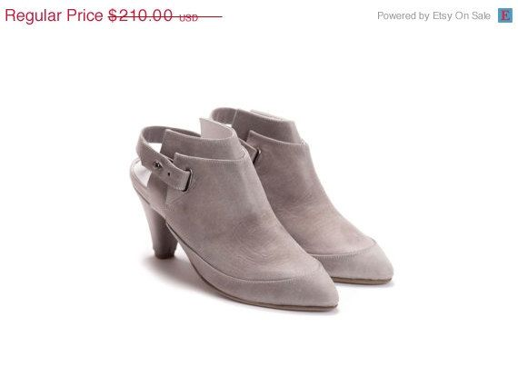 SALE Womens Heels  Ankle Boots  Leather Shoes  by OliveThomasShoes