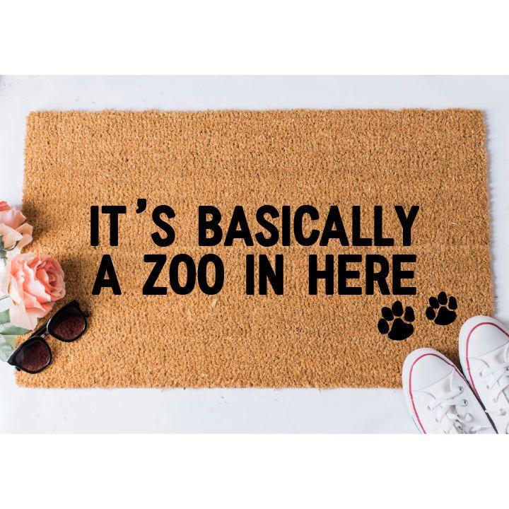 Zoo In Here Doormat Dog Doormat Funny Doormat Funny