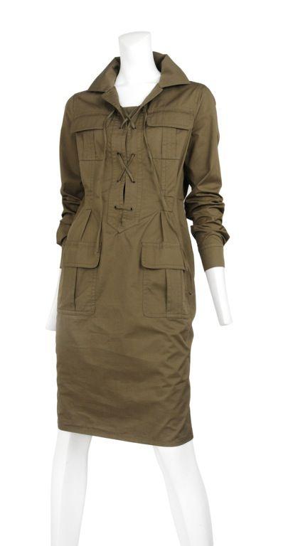 vintage Yves Saint Laurent Safari dress
