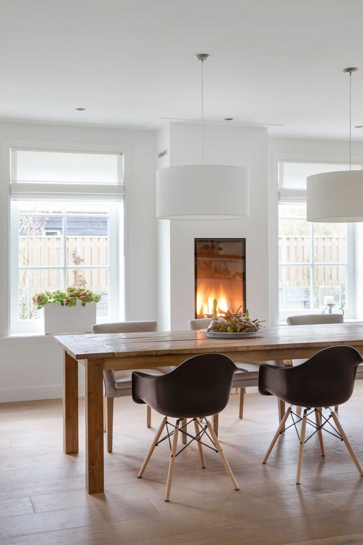 Maybe an insanely simple fireplace in the breakfast nook?