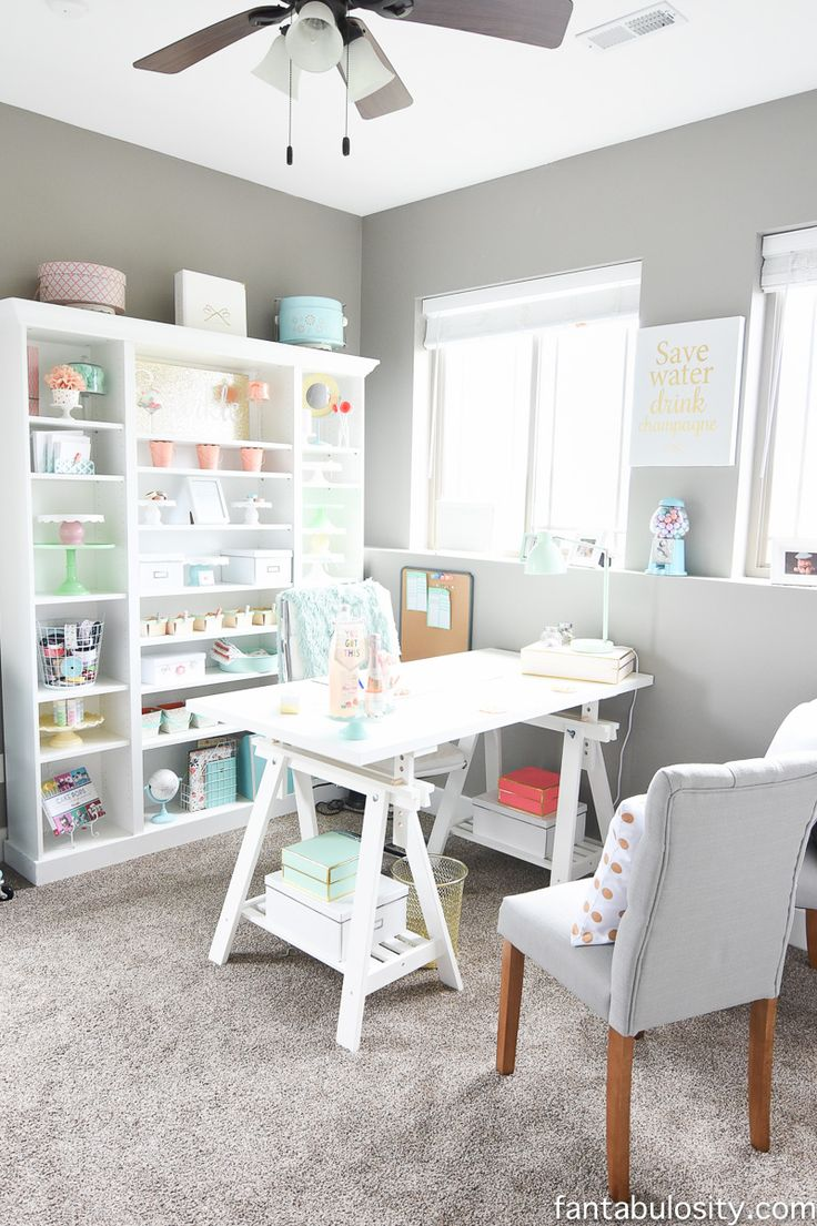 craft room office reveal bydawnnicolecom. Home Office Makeover Reveal - Fantabulosity Craft Room Bydawnnicolecom