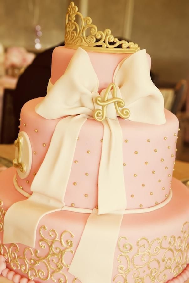 1 st birthay party ..pink and gold princess
