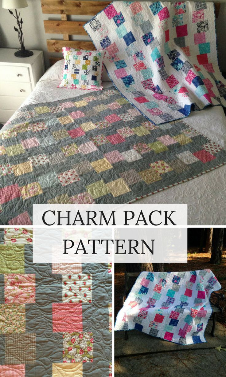 PDF Building Blocks Quilt Pattern Charm Pack Pattern #quilts #affiliate #charmpack
