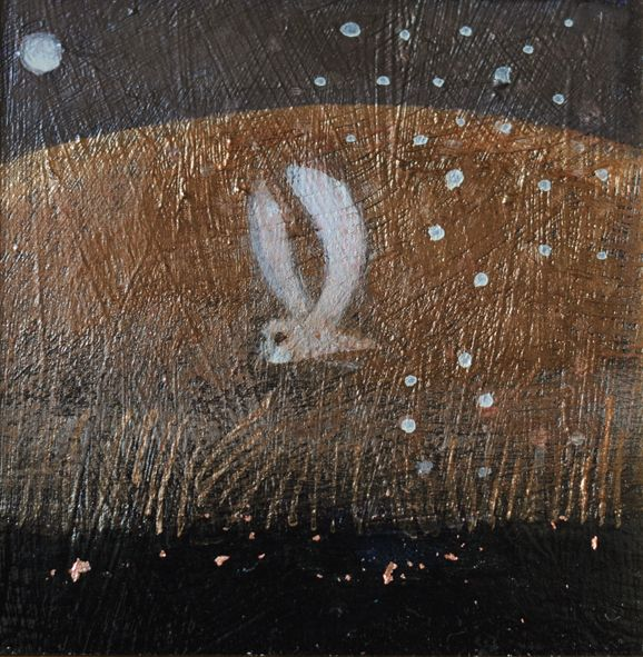 owl flight river mists rising by Catherine Hyde