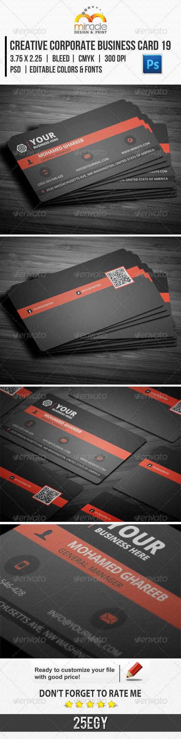 263 best business card images on pinterest business cards creative corporate business card 19 magicingreecefo Image collections
