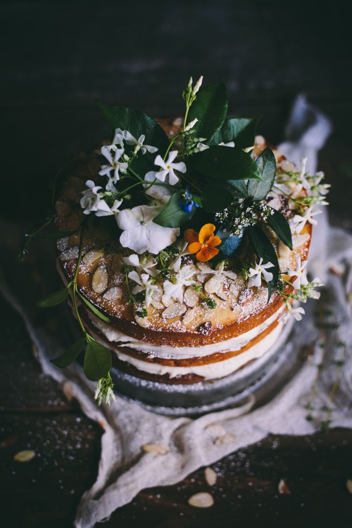 Orange Almond Cake with an Orange Blossom Buttercream by Adventures in Cooking.