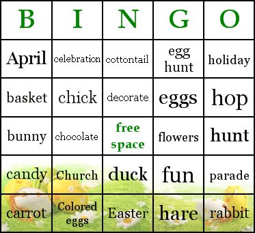 Printable Easter Bingo Cards \u2013 Merry Christmas And Happy New Year 2018 - free printable religious easter cards