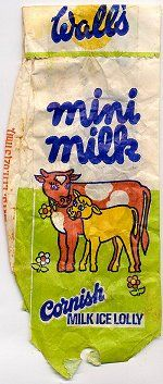 Mini Milk.  I frequently had one on my way home from my first senior school, Seven Kings High.  It was about the only thing that made school bearable.
