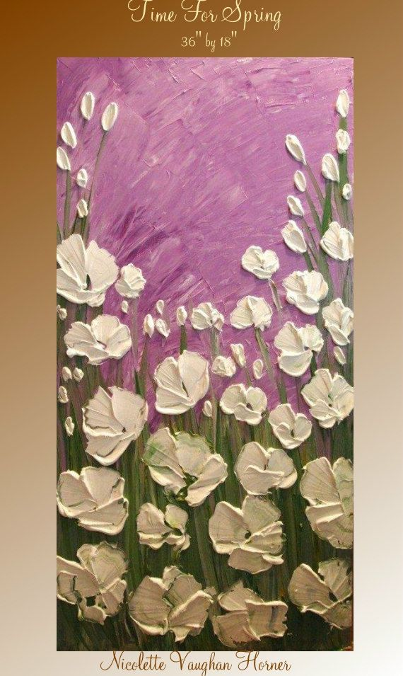 Acrílico de arte abstracto contemporáneo moderno empaste original sobre lienzo  Título... Tiempo para la primavera  Dimensiones: 36 x 18 x 3/4 ¡Envío gratis!!!! Galería de alta calidad envuelto lona con grapas posteriores, bordes pintados de negro - listo para colgar en pared  Utilizar sólo la mejor calidad alta calidad acrílico /oil paints y lona de estilo de Galería abrigo o galería de abrigo (tiene grapas en la parte posterior), listo para colgar para que usted pueda disfrutar su pintura…