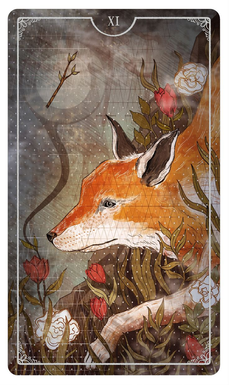The Page of Wands - By Julia Iredale For the upcoming Ostara Tarot Deck