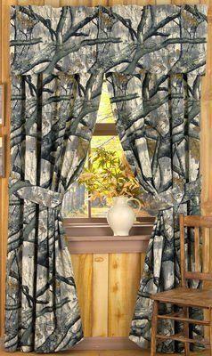 Mossy Oak Camo Treestand Window Curtains By Mossy Oak