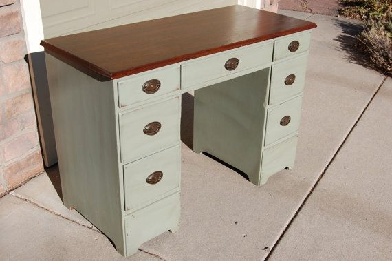 REPURPOSED Furniture Upcycled Sage Green By