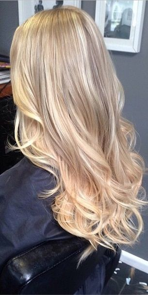 honey and vanilla blonde highlights.