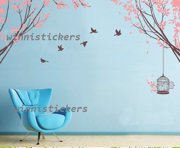 Vinyl Wall Decal Nature Design Tree Wall Decals Wall stickers Nursery wall decal wall art------sweet home. $66.00, via Etsy.
