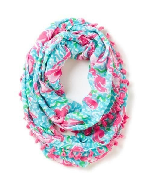 Lilly Pulitzer Riley Tassel Trim Infinity Loop Scarf