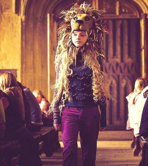 Image result for luna lovegood lion hat