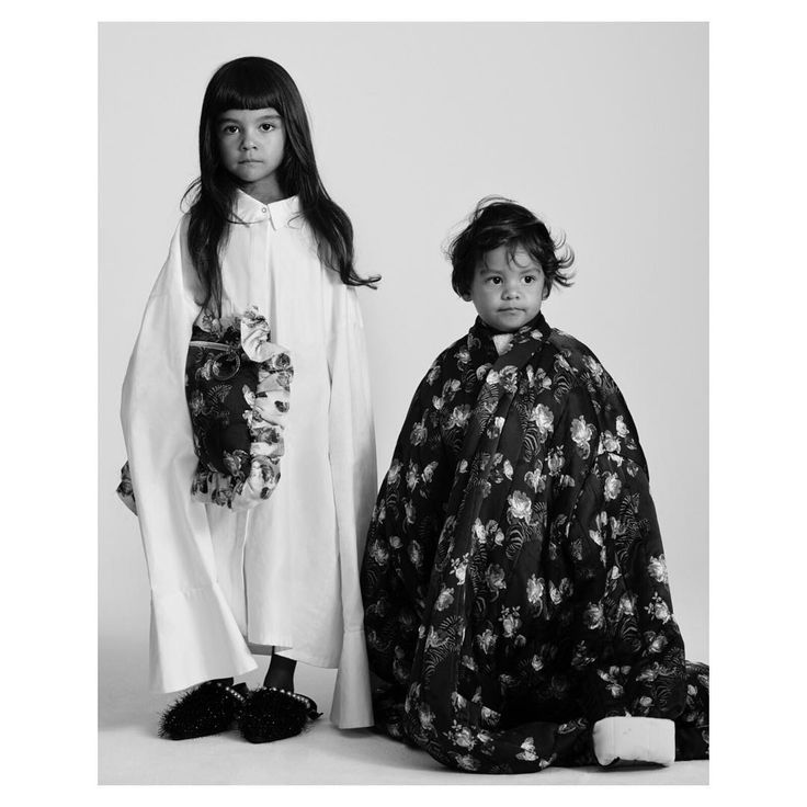 """""""Winter florals? Literally, nothing makes us more excited.""""  Tallis, 4; Byron, 21 months  Photography Toby Coulson  #motherofpearl #pearlyqueen #aw17 #tobycoulson"""