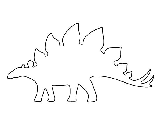 Clever image pertaining to dinosaur stencil printable