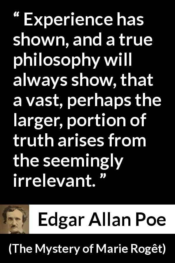 edgar allan poe philosophy