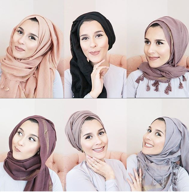 Dina's scarf styles from her Back to School video!