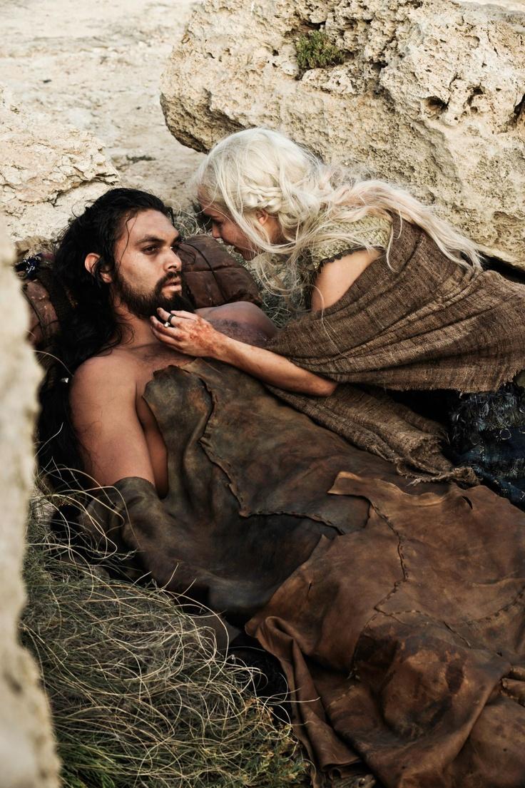 Daenerys targaryen and khal drogo wallpaper daenerys targaryen wedding - Khal Drogo Jason Momoa Y Daenerys Targaryen Emilia Clarke
