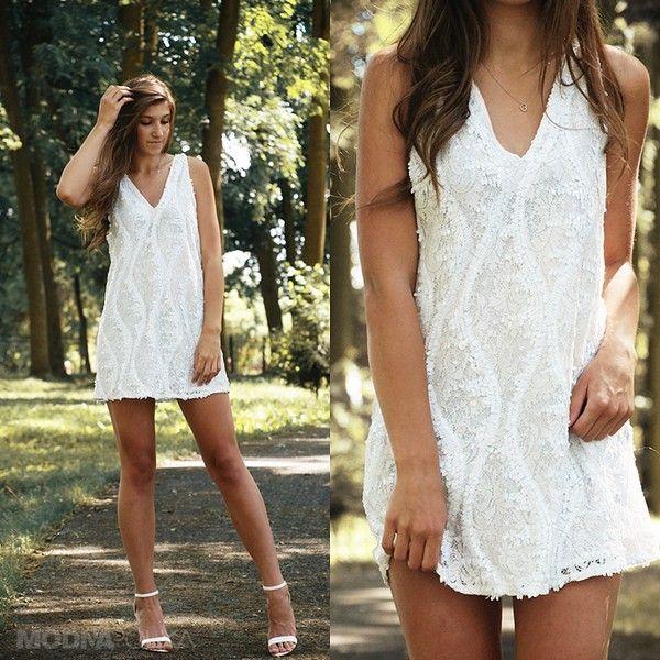 white sequins dress #whitedress #summerdress