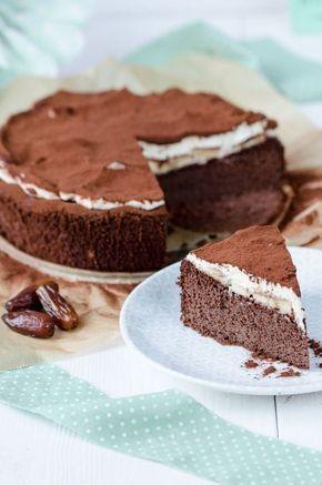 Pastel de chocolate y plátano saludable – sin azúcar, sin harina   – Kuchen