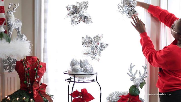 DIY Christmas Curtains from A Big Lots Tablecloth | 12 DIYs of Christmas...