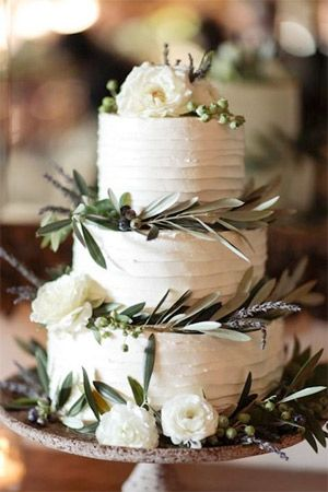 tiered wedding cake with serenity   rose quartz topper decor - brides of adelaide