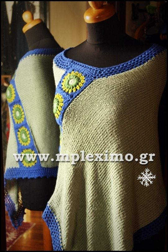 crochet knitted poncho