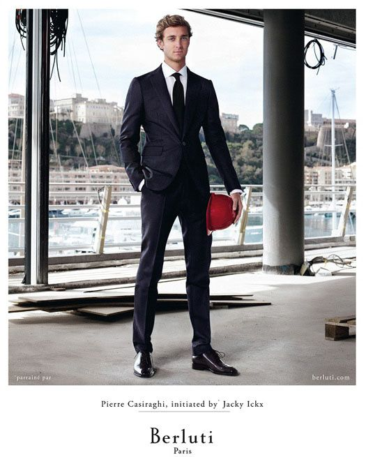 Pierre Casiraghi makes his modelling debut in a new ad campaign for Italian fashion house Berluti.