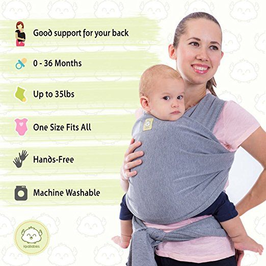 Amazon Com Keababies Baby Wrap Carrier And Baby Slings 2 Colors