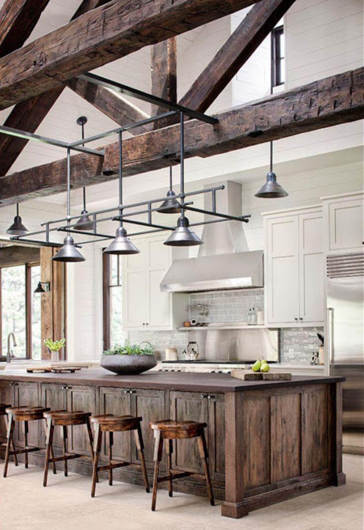 Rustic meets modern kitchen Klassieke keukens Pinterest