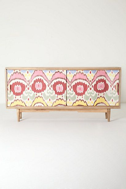 Handpainted Ikat Console Anthropologie Furniture That
