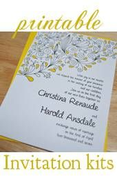 Creating fabulous affordable Invites using a Do It Yourself Wedding Invitations Kit. Ways to save even more money, and turn those cheap wedding invitations into gorgeous semi-handmade creations.