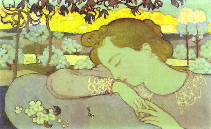 Sleeping Woman, 1892 by Maurice Denis. Post-Impressionism. portrait. Musee…