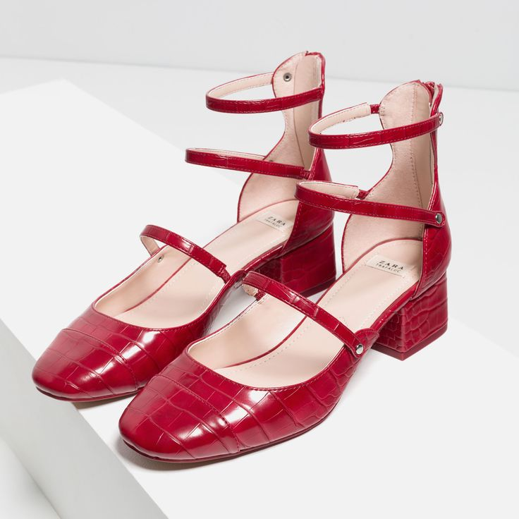 mid heel shoes with straps shoes in 2019 shoes heels zara shoes. Black Bedroom Furniture Sets. Home Design Ideas