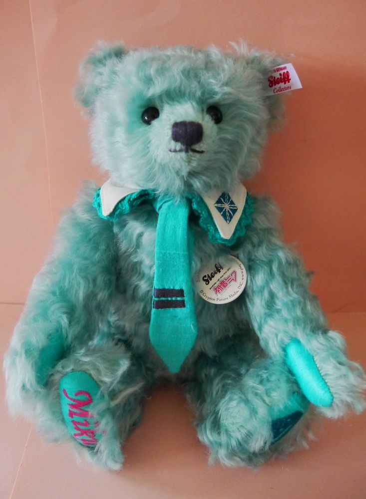 Vocaloid character Miku Hatsune Steiff bear 40th Anniversary Stuffed Japan LE #Celebration