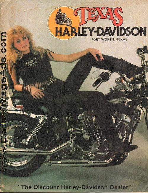 1984 Vintage Texas Harley-Davidson, Fort Worth, TX, Mail-Order Catalog