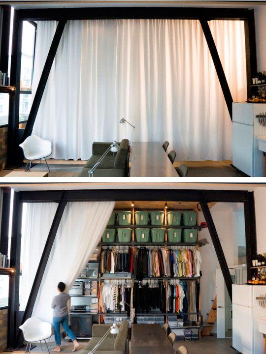 Small space. Killer closet.