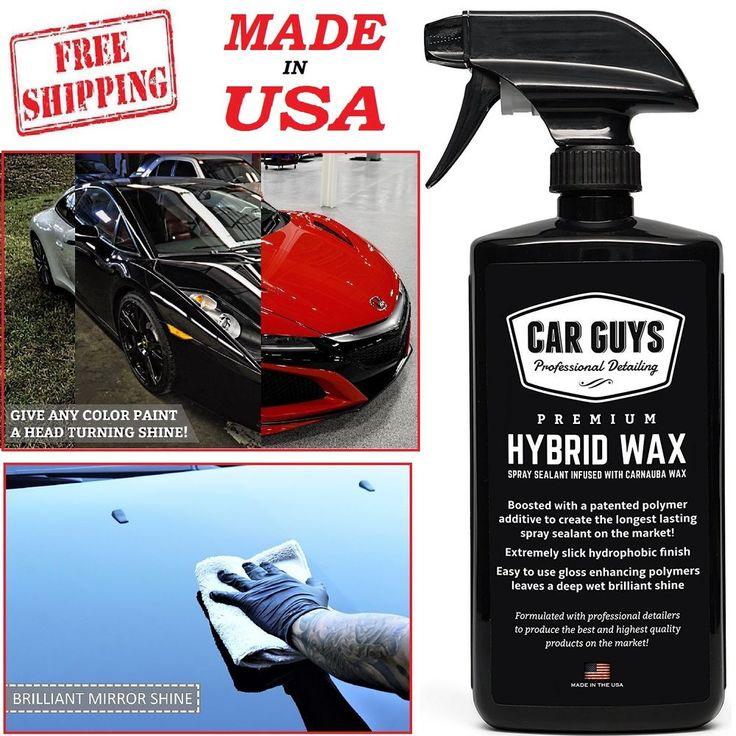 Car Wash Spray Wax Sealant Deep Carnauba Paint Glass