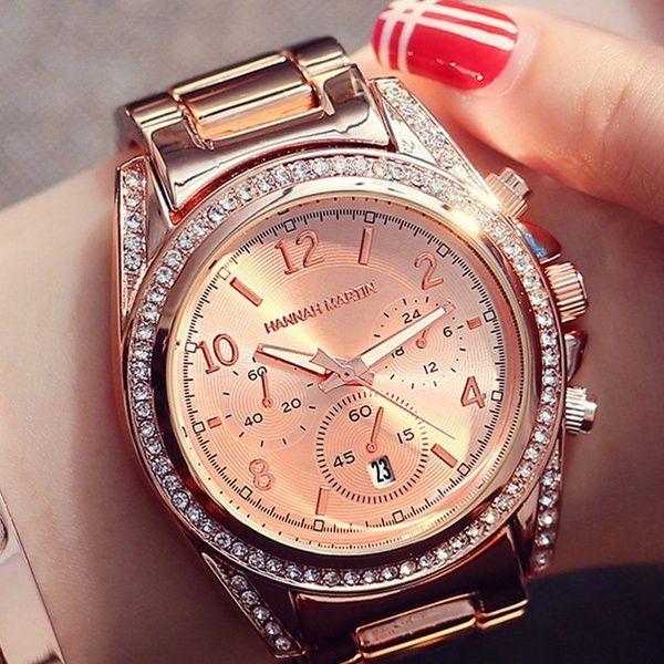 Elegante Dame Mode Frauen Quarzuhren Strass Rose Gold Diamant Casual Kleid Uhr Fur Damen Silber Gold Uhren In 2020 Women Wrist Watch Watches Women Fashion Quartz Watch