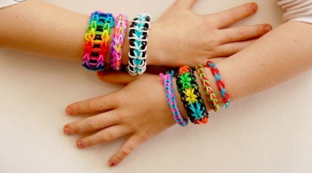 Gummi Armband Regenbogen Farbe selber machen
