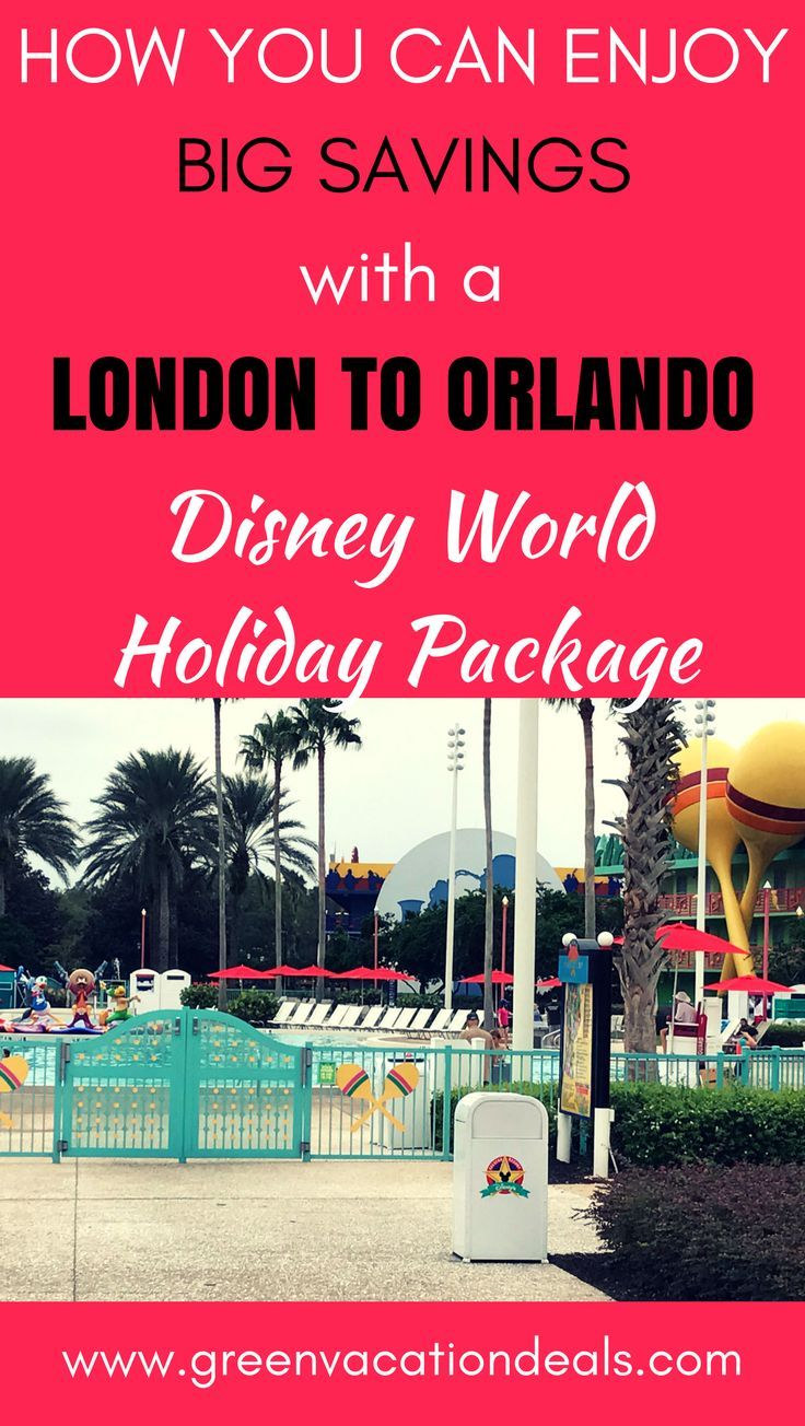 Discover a great way to save lots of money on your next Disney World holiday with this great Disney World Holiday Package! Your Disney World holiday will include flight from London to Orlando, 14 nights at Disney's All-Star Music Resort, 14-Day Ultimate Ticket for all 6 Disney theme parks (Magic Kingdom, EPCOT, Animal Kingdom, Hollywood Studios, Typhoon Lagoon, Blizzard Beach) & more. #disneyparks #disneyholiday #allstarsports #disneyworld