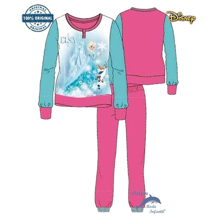 Pijama FROZEN DISNEY de micropolar con Elsa y Olaf color rosa