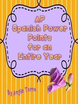 All the PowerPoints you will need to teach AP Spanish. There is a PowerPoint for each of the sections of the AP Spanish Language and Culture Test.